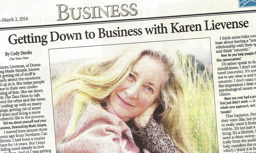 Getting Down to Business with Karen Lievense, Taos News