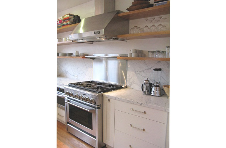 New kitchen in California bungalow….modern function + a vintage vibe